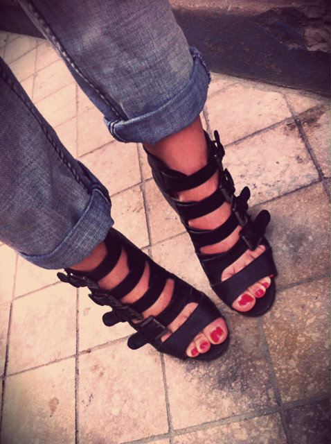 wedges chaussures compensées asos