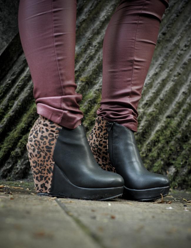 compensées leopard wedges shoes