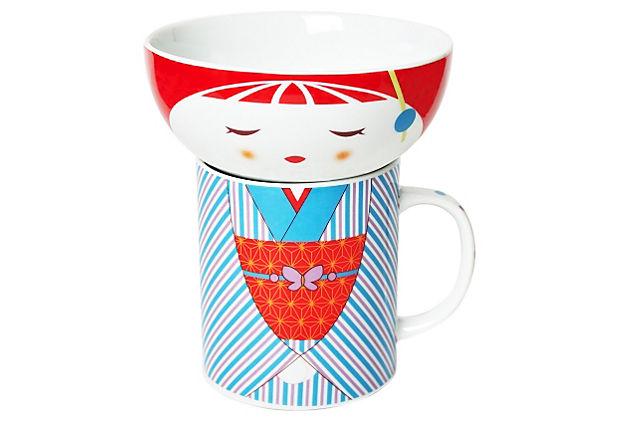 Kimono-Bowl-Mug-Set